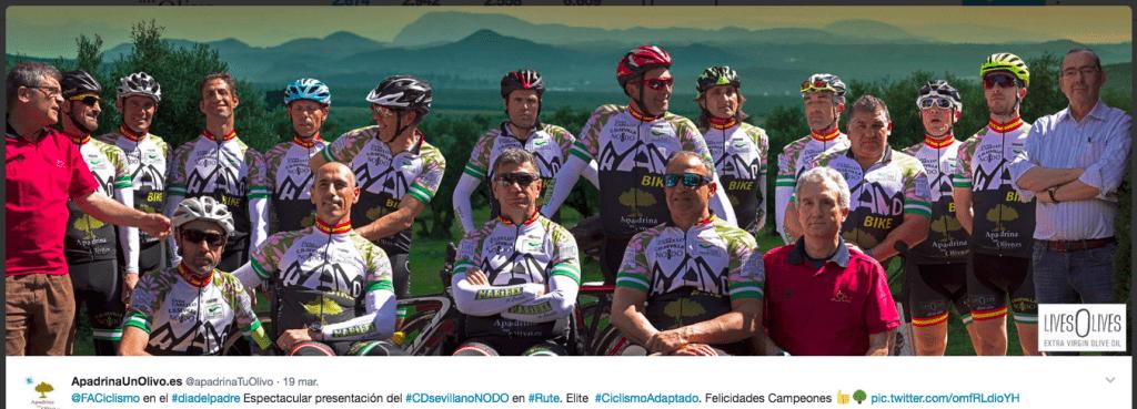 Solidario patrocinador de un equipo ciclista adaptado de Andalucía