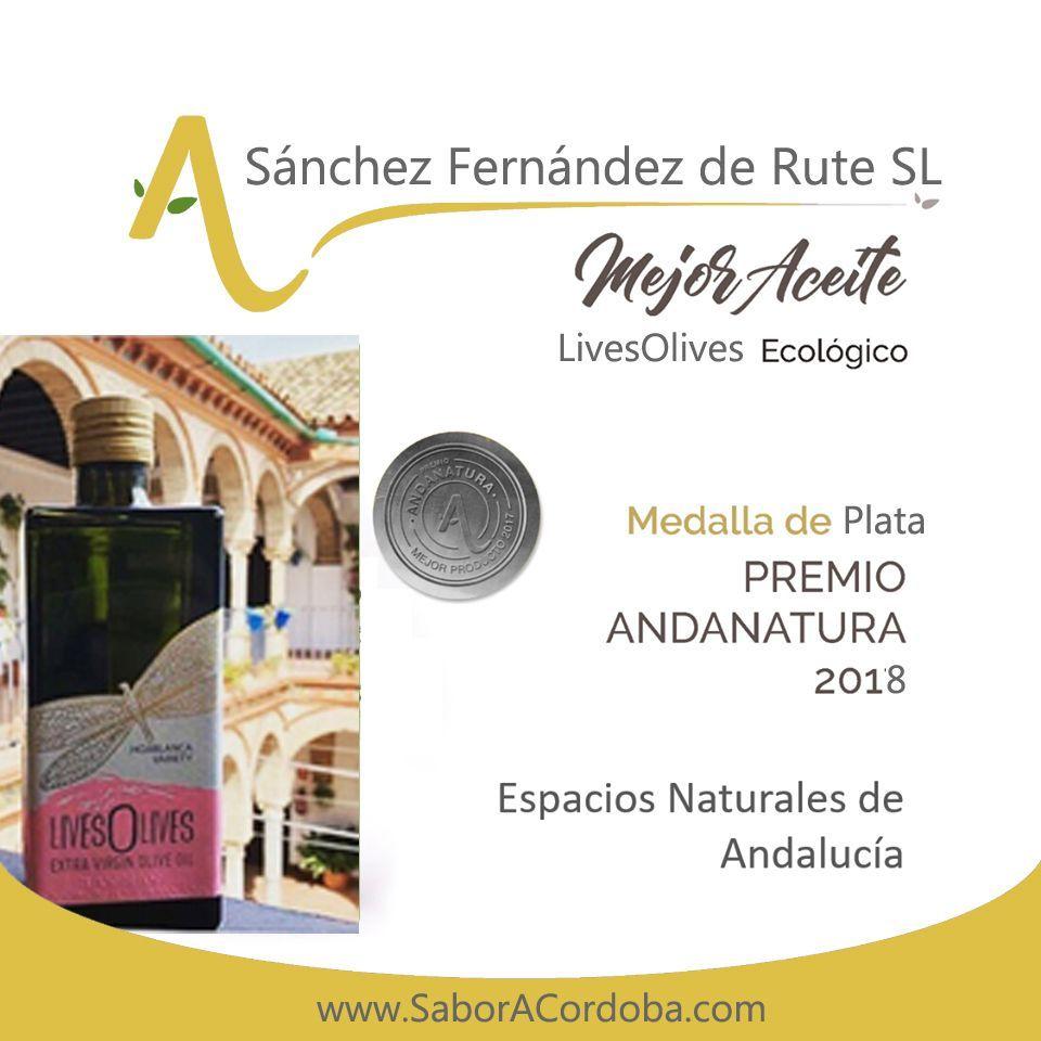 Premios AndaNatura 2018 Mejor Aceite LIVESOLIVES