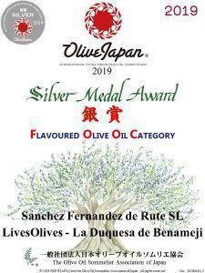 LIVESOLIVES Gold medal to our EVOO contest Olive Japan. SILVER medal for its oils Flavored La Duchess de Benamejí